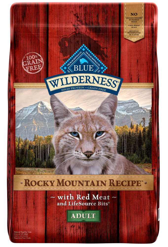 Blue Buffalo BLUE Wilderness Rocky Mountain Recipe Adult Red Meat Dry Cat Food