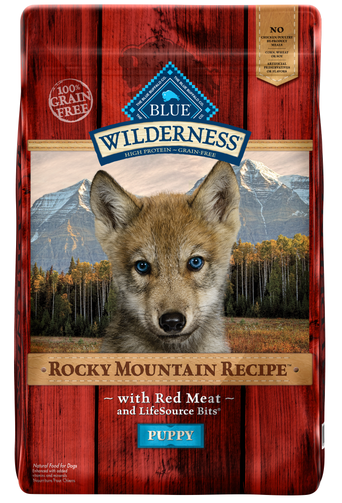 Blue Buffalo BLUE Wilderness Rocky Mountain Recipe Puppy Red Meat Dry Dog Food
