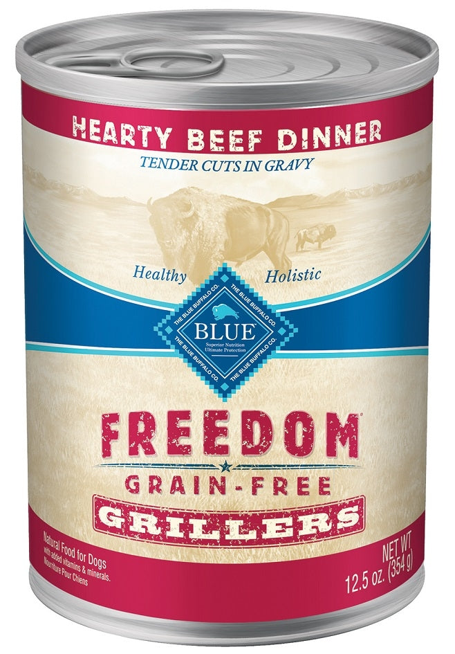 Blue Buffalo BLUE Freedom Grain Free Grillers Hearty Beef Dinner Canned Dog Food