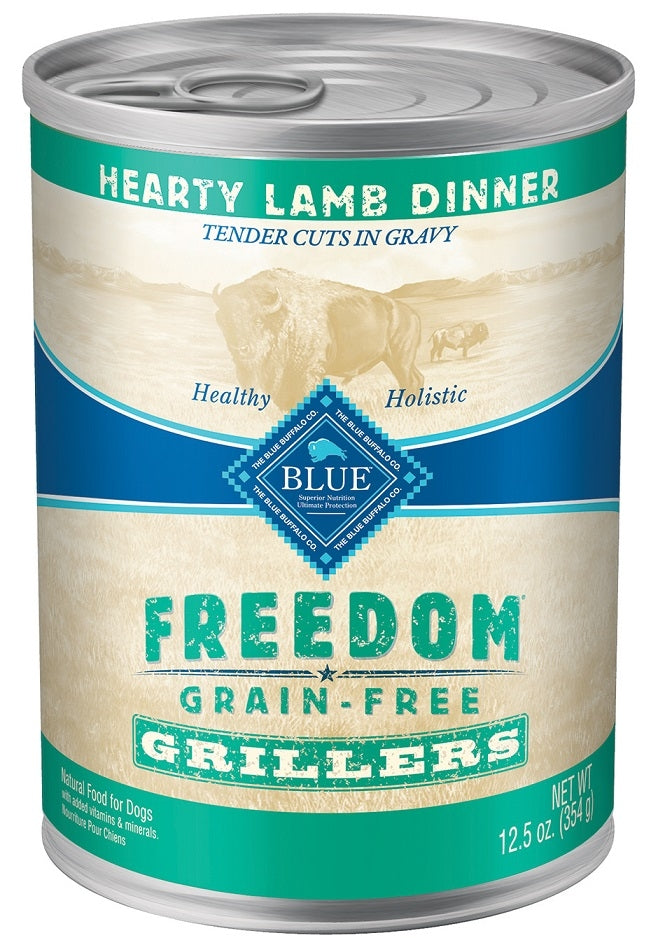 Blue Buffalo BLUE Freedom Grain Free Grillers Hearty Lamb Dinner Canned Dog Food