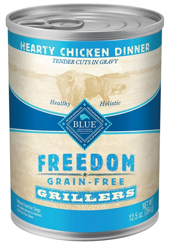 Blue Buffalo BLUE Freedom Grain Free Grillers Hearty Chicken Dinner Canned Dog Food