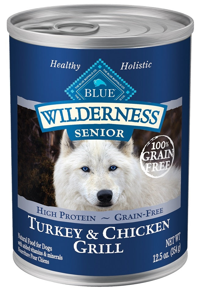 Blue Buffalo BLUE Wilderness Turkey and Chicken Grill Senior Canned Dog Food