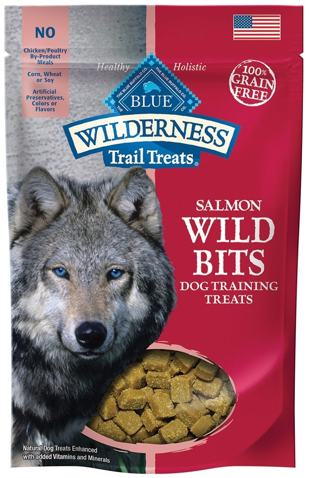 Blue Buffalo BLUE Wilderness Trail Treats Salmon Wild Bits Dog Treats