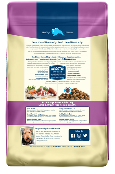 Blue Buffalo BLUE Life Protection Large Breed Adult Lamb and Brown Rice Recipe Dry Dog Food