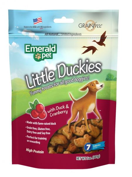 Emerald Pet Little Duckies Cranberry Dog Treats