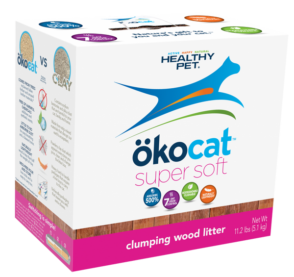 okocat Super Soft Natural Wood Clumping Cat Litter