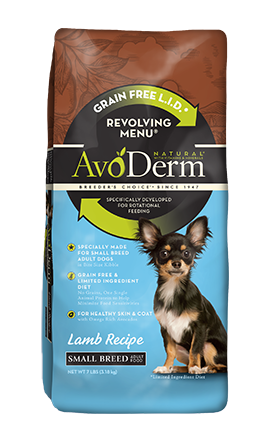 Avoderm Revolving Menu Small Breed LID Grain Free Lamb Recipe Adult Dry Dog Food