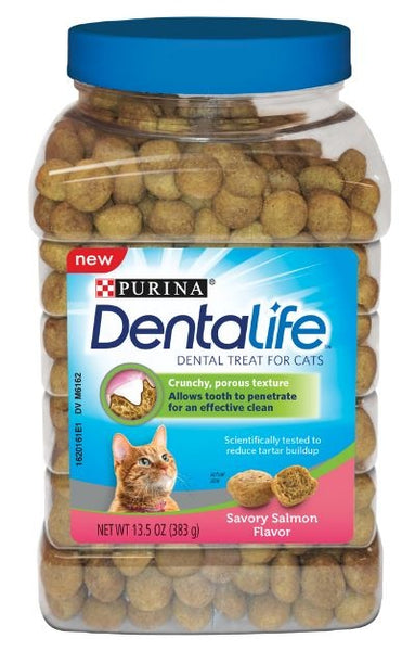 Purina Dentalife Adult Savory Salmon Flavor Cat Dental Treats