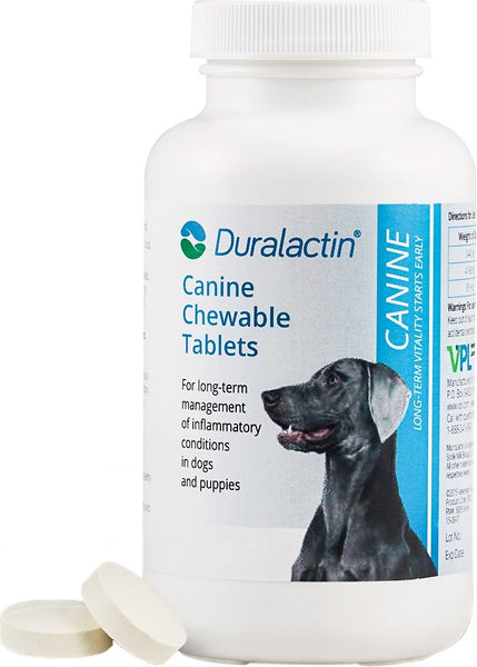 Duralactin Canine Chewable Vanilla Flavored Tablet Dog Supplement