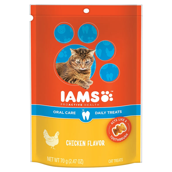 Iams ProActive Health Oral Care Chicken Recipe Daily Cat Treats
