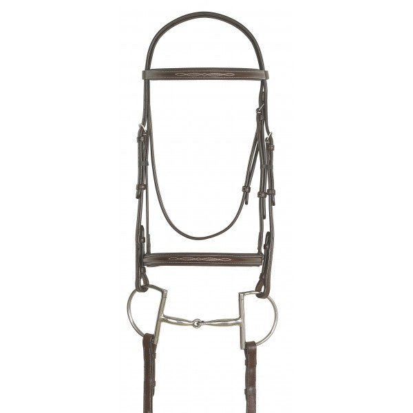 Ovation® Fancy Stitched Raised Padded Bridle with Laced Reins