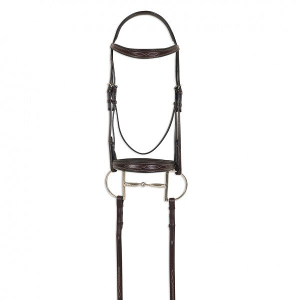 Square Raised Taper Nose Fancy Stitch Bridle