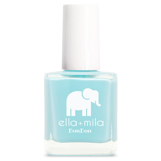 Ella + Mila My Baby Blue Colour Nail Polish Vegan Friendly