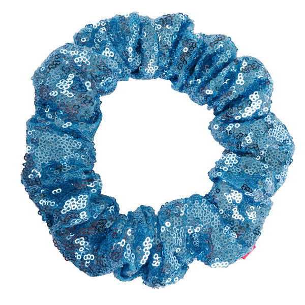 Water Blue Sequin Hair Scrunchie - Scrunchy Queen