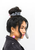 NEW! Check Wool Scrunchy