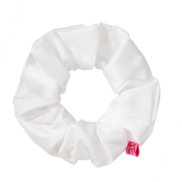 Fresh White Sports Hair Scrunchie - Scrunchy Queen