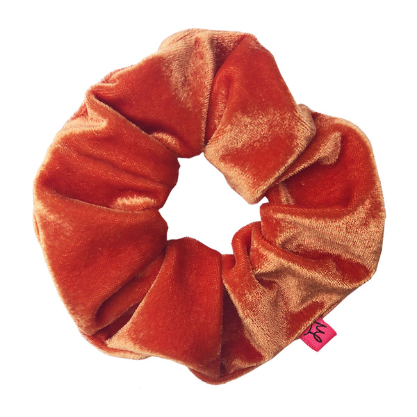 Juicy Orange Velour Hair Scrunchie - Scrunchy Queen