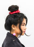 LIMITED EDITION! Patent Red Leather Hair Scrunchie - Scrunchy Queen
