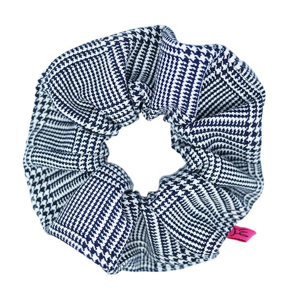 Black and White Check Hair Scrunchie - Scrunchy Queen