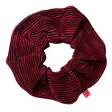 Scrunchy Queen Burgundy Plisse Hair Scrunchie