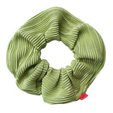 Chartreuse Green Plisse Hair Scrunchie - Scrunchy Queen