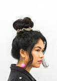 Brown Tweed Wool Hair Scrunchie