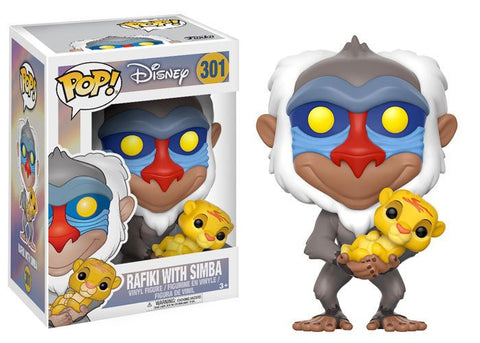 The Lion King Rafiki with Baby Simba Pop! Vinyl Figure [Pre-order]