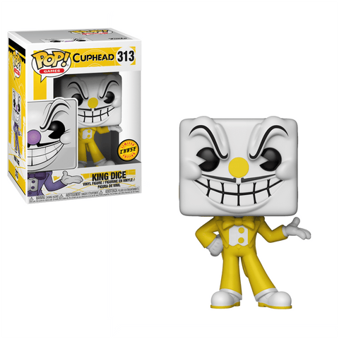 Cuphead King Dice Pop! Vinyl Figure #313 Chase Edition