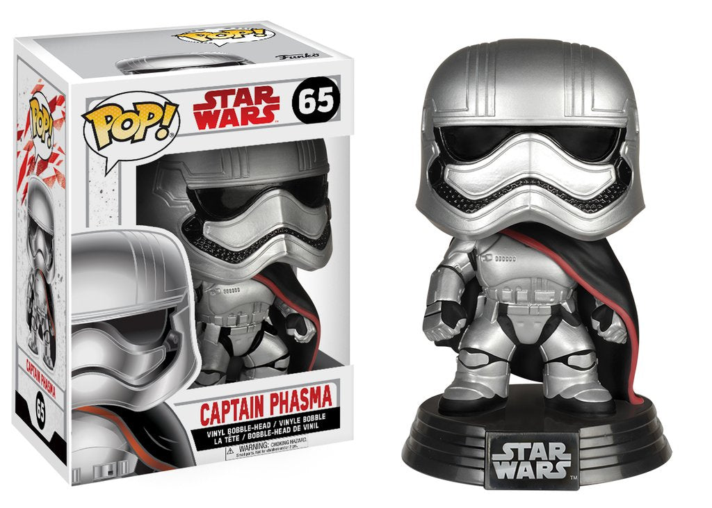Star Wars: The Last Jedi Captain Phasma Pop! Vinyl Bobble Head #65