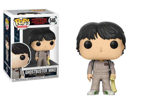 Stranger Things Ghostbusters Mike Pop! Vinyl Figure #546
