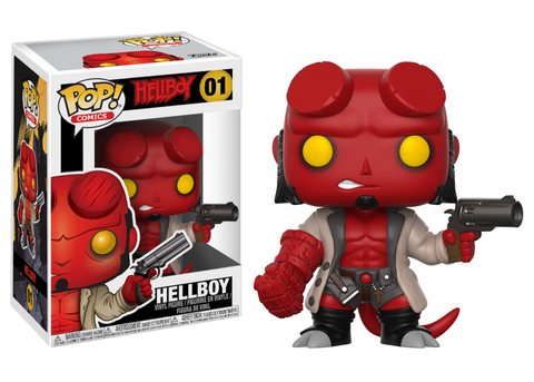 Hellboy Comic Hellboy with Jacket Pop Vinyl Figure #01 [Pre-order]