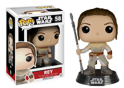 Star Wars: The Force Awakens Rey Pop! Vinyl Bobble Head #58