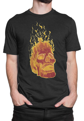 Black Flame Skull T-Shirt