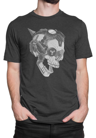 Melvin the Steam Punk Skull Short Sleeve T-Shirt