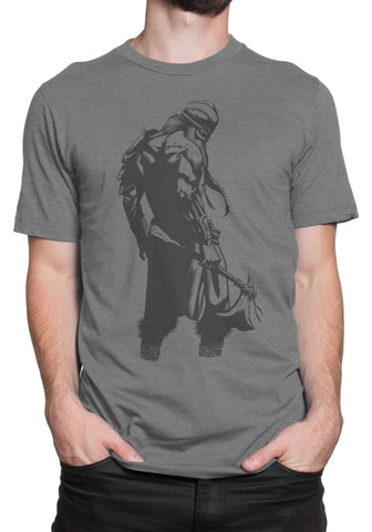 Agmundr the Warrior Short Sleeve T-shirt - Dark Gray