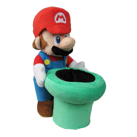 Super Mario Bros. Mario and Warp Pipe 9-Inch Plush