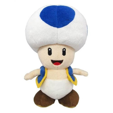 Super Mario Bros. Blue Toad 8-Inch Plush