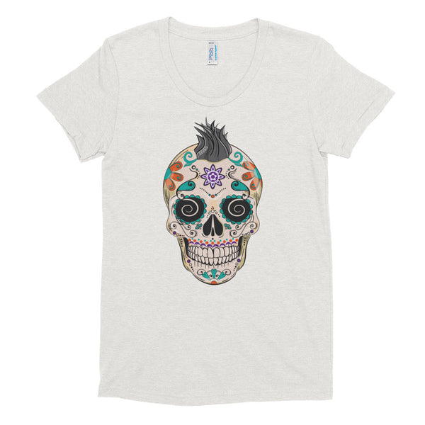 Felix the Sugar Skull Women's Short Sleeve Soft T-Shirt