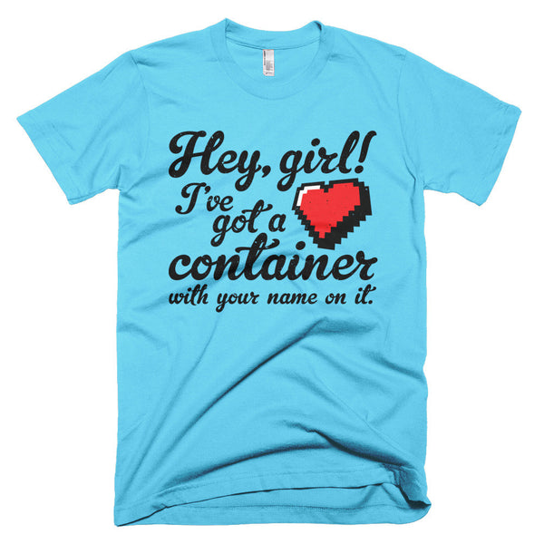 Hey Girl Heart Container T-Shirt - Deeko - 6