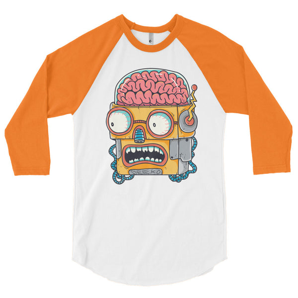 Winston the Robot 3/4 Sleeve Raglan Shirt - Deeko