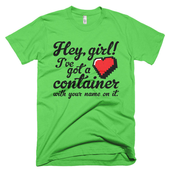 Hey Girl Heart Container T-Shirt - Deeko - 4