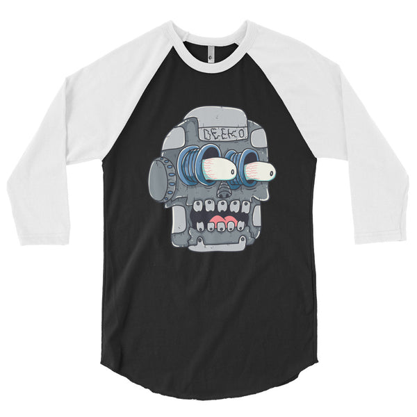 Frank the Robot 3/4 Sleeve Raglan Shirt - Deeko