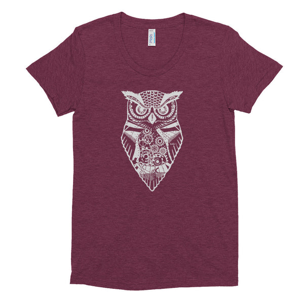 Eldwin the Owl Women's Short Sleeve Soft T-Shirt - Deeko