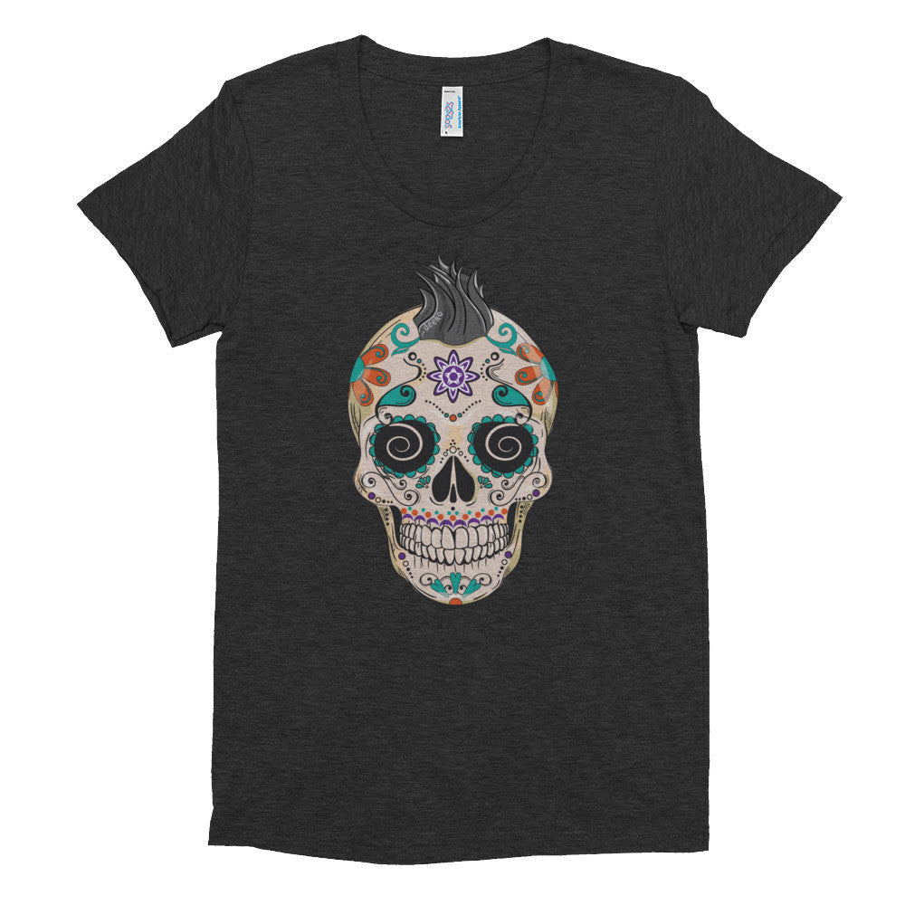 Felix the Sugar Skull Women's Short Sleeve Soft T-Shirt - Deeko