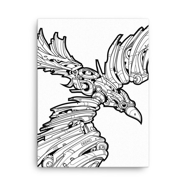 P.O.E. the Raven Gallery Canvas Print