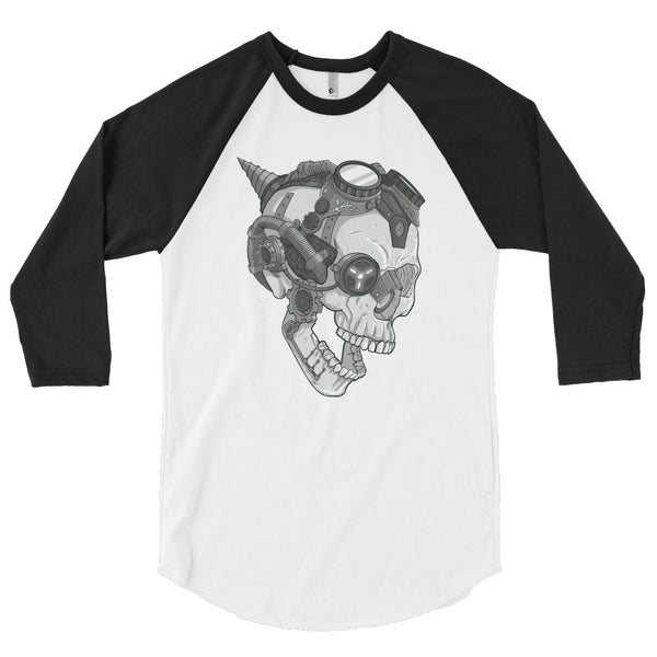 Melvin the Steam Punk Skull 3/4 Sleeve Raglan Shirt - Deeko