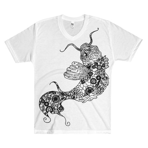 Huan the Koi Fish Men's V-Neck T-Shirt