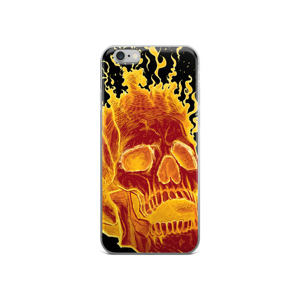 Charon the Flaming Skull iPhone case - Deeko