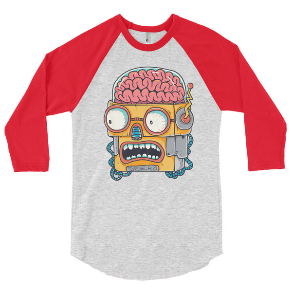 Winston the Robot 3/4 Sleeve Raglan Shirt