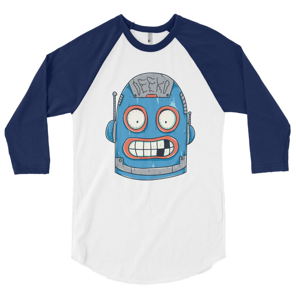Harold the Robot 3/4 Sleeve Raglan Shirt - Deeko